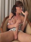 TS Mariana Cordoba fucks her tight asshole with a big dildo