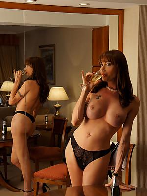 Super Hot & Super Hung Tranny Mariana Cordoba in drunk strip tease