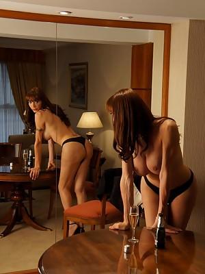 Super Hot & Super Hung TS Mariana Cordoba in drunk strip tease